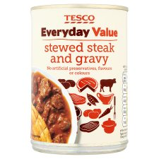 Tesco Everyday Value Stewed Steak And Gravy 400G