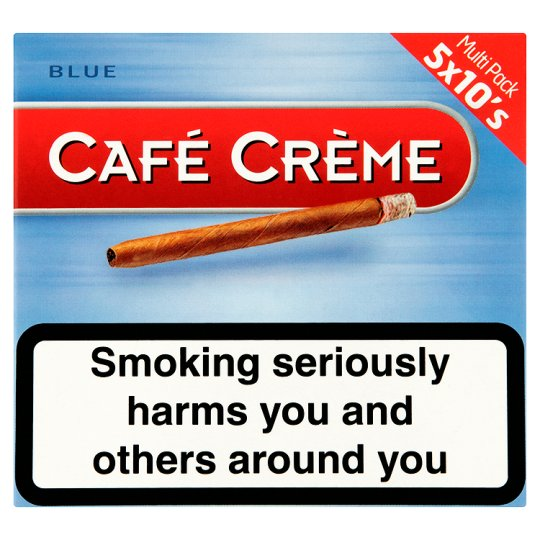Cafe Creme Blue Cigars 5 X 10 Pack
