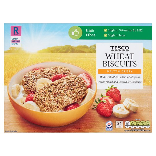 Tesco Wheat Biscuits Cereal 24 Pack