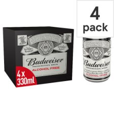 Budweiser Prohibition Alcohol Free 4X330ml Can