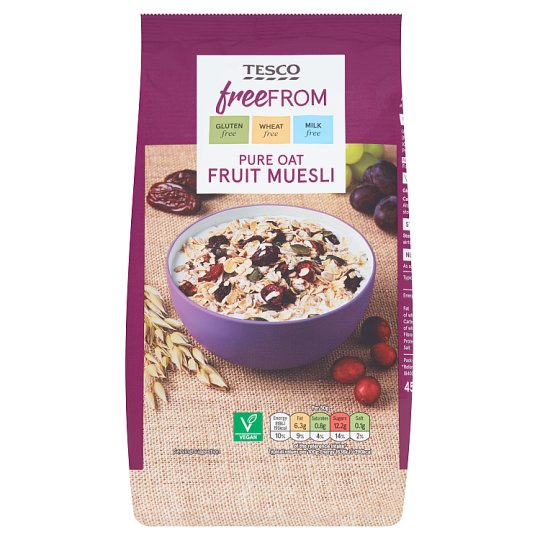 Tesco Free From Pure Oat Fruit Muesli 450G