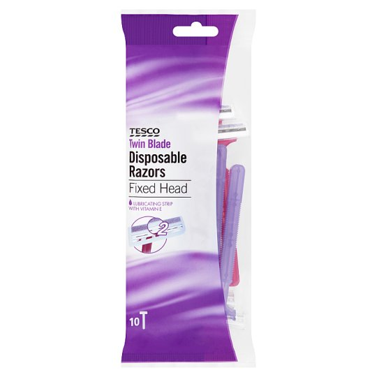 Tesco Women's Twin Blade 10 Pack Mix Colour Disposable