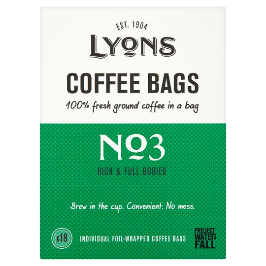 Lyons Coffee Bags 18 Pack 125G