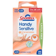 Spontex Vinyl Disposable Gloves 20 Pack