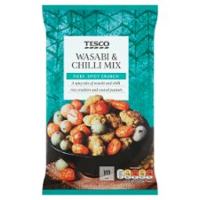 Tesco Wasabi And Chilli Mix Sncks 150 G