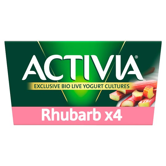 image 1 of Activia Rhubarb Yogurt 4 X125g