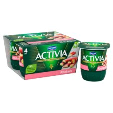 image 2 of Activia Rhubarb Yogurt 4 X125g