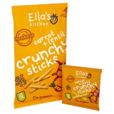 image 2 of Ellas Kitchen Carrot And Lentil Sticks 4X15g