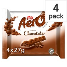 Aero Milk Chocolate Multipack 4 X27g