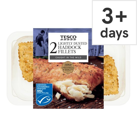 image 1 of Tesco Lightly Dusted Haddock Fillets 255G