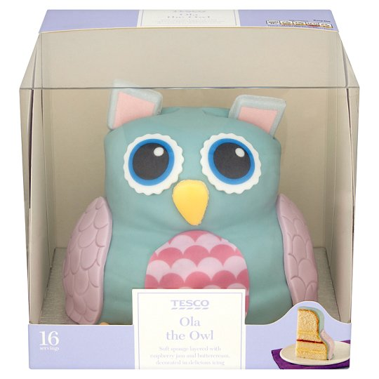 Cake With Photo Tesco : Tesco Ola The Owl Cake - Groceries - Tesco Groceries