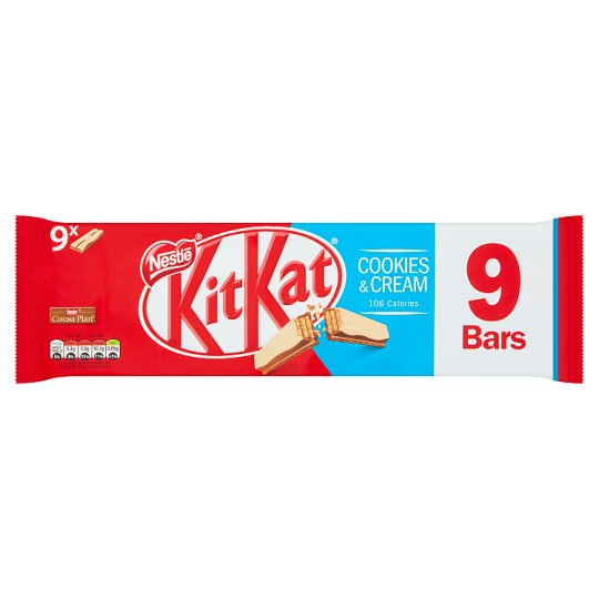 image 1 of Kit Kat 2 Finger Cookies And Cream Biscuit 9 Pack 186.3G
