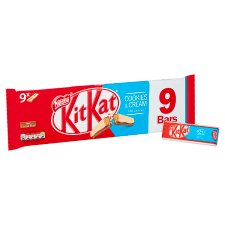 image 2 of Kit Kat 2 Finger Cookies And Cream Biscuit 9 Pack 186.3G
