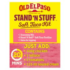 image 3 of Old El Paso Stand 'N' Stuff Crispy Chicken Taco Kit 351G