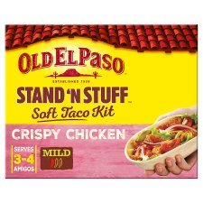 image 1 of Old El Paso Stand 'N' Stuff Crispy Chicken Taco Kit 351G