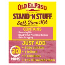 image 2 of Old El Paso Stand 'N' Stuff Crispy Chicken Taco Kit 351G