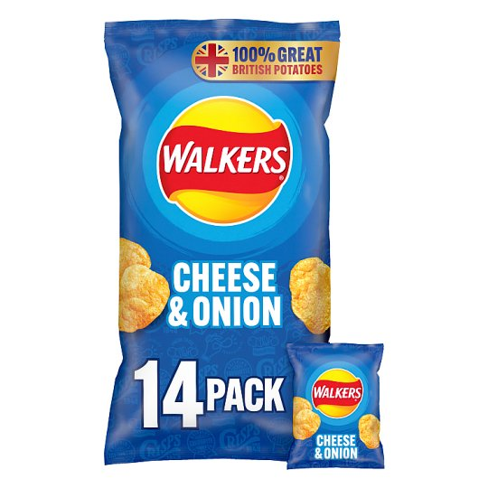 Walkers Cheese And Onion Crisps 12X25g