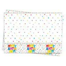 Tesco Generic Happy Birthday Tablecover 120Cm X 180Cm