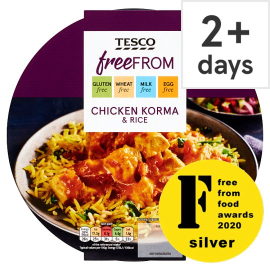 Tesco Free From Chicken Korma And Rice 400G