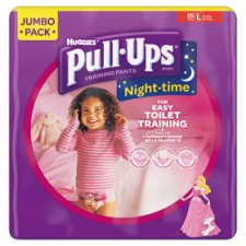 Huggies Pull Ups Night Time Girls Large 25 Pack