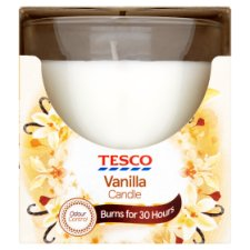 Tesco Vanilla Candle 120G