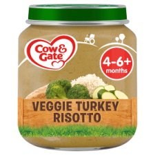 Cow & Gate Stage 1 Vegetable And Turkey Risotto 125G Jar