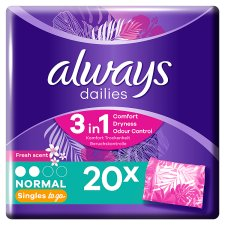 Always Dailies Singles Normal Fresh Panty Liners 20