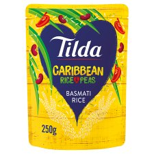 Tilda Caribbean Rice And Peas Steamed Basmati 250G