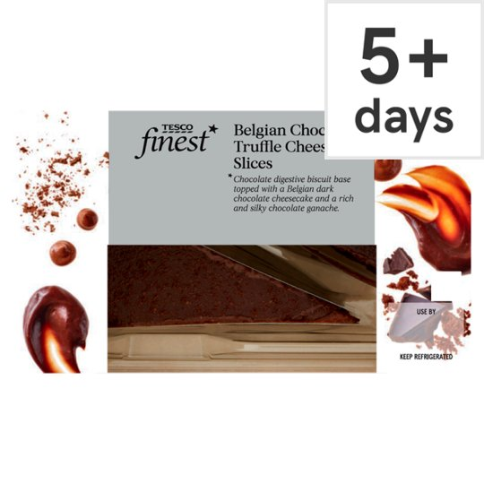 Tesco Finest 2 Belgian Chocolate Truffle Cheesecakes 180G