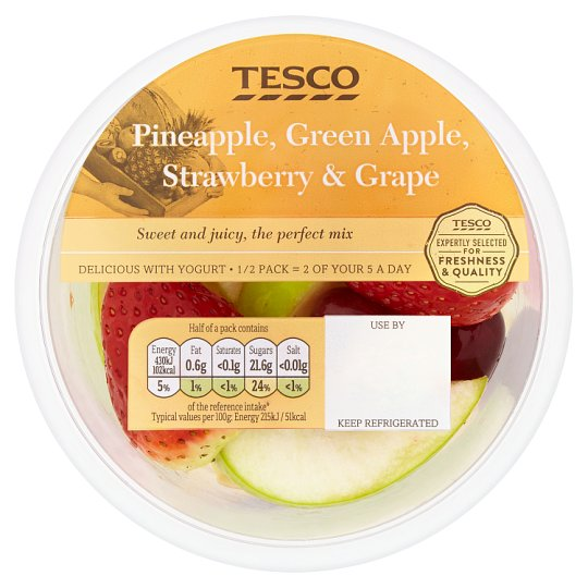image 1 of Tesco Pineapple Apple Strawberry And Grape 400G