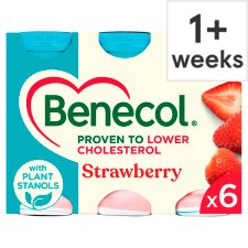 Benecol Strawberry Yogurt Drink 6 X67.5G