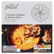 Tesco Finest Vintage Chedder And Bacon Bake 150G