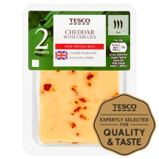 Tesco Cheddar With Chillies 200 G