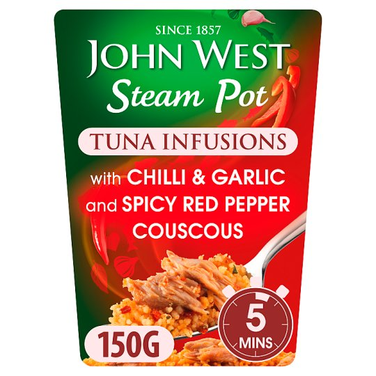 John West Steam Pot Tuna Infusions Garlic Chilli 150G