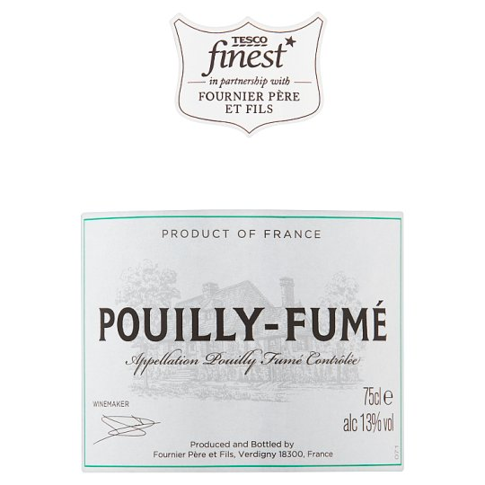 Tesco Finest Pouilly Fume 75Cl