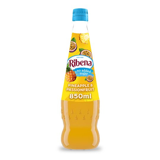 Ribena No Added Sugar Pineapple And Passion Fruit 850Ml