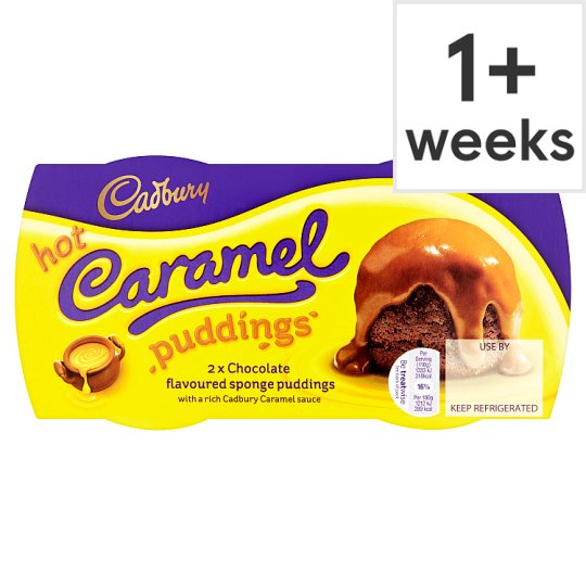 Cadbury 2 Hot Caramel Sponge Puddings 2X 110G
