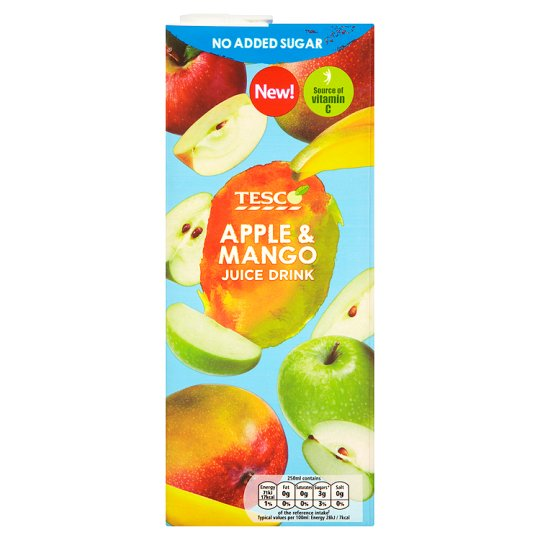 Tesco No Added Sugar Apple And Mango Juice Drink 1.5L
