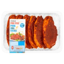 Tesco Bbq Piri Piri Pork Loin Steaks 600G