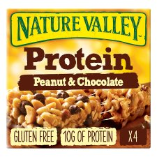 Nature Valley Protein Peanut And Chocolate Bars 4X40g
