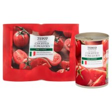 image 2 of Tesco Italian Chopped Tomatoes 4 X 400G