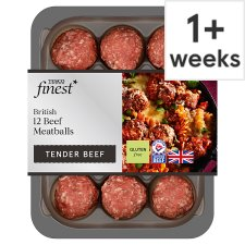 Tesco Finest 12 British Beef Meatballs 336G