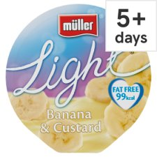 Muller Light Banana Custard Yogurt 175G