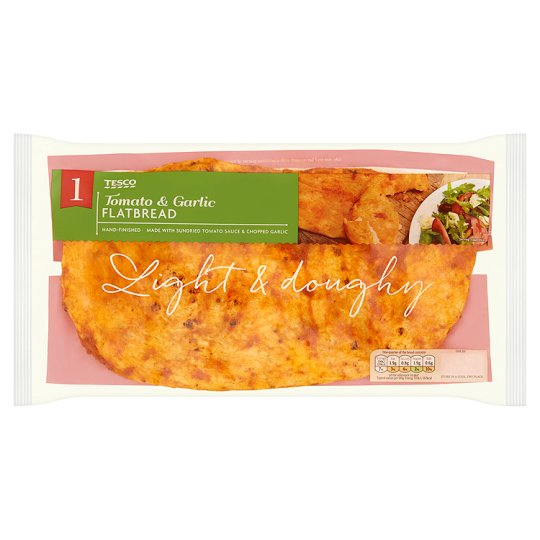 Tesco Tomato And Garlic Flatbread 220G