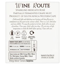 image 3 of Wine Route Rose Moscato 75Cl