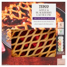 Tesco Apple And Blackberry Lattice Pie 500G