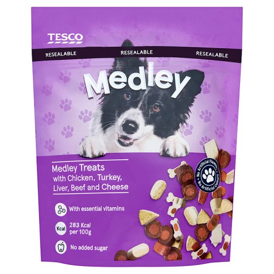 Tesco Medley Dog Treats 140G
