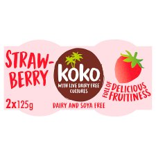 Koko Dairy Free Strawberry Yogurt Alternative 2 X125g