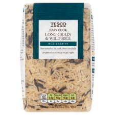 Tesco Easy Cook Long Grain And Wild Rice 500G