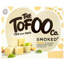 The Tofoo Co Organic Cubed Smoked Tofu 160G